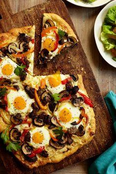 Breakfast Pizza#HEALTHY BREAKFAST IDEAS