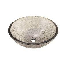 Jsg Oceana Black Nickel Glass Vessel Round Bathroom Sink 005-005-022