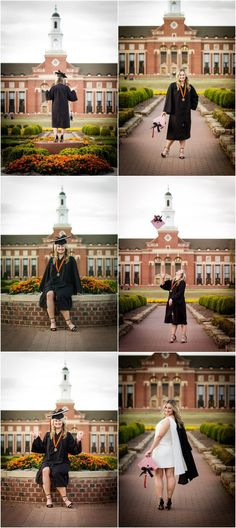 Stillwater Oklahoma Oklahoma State University Senior Portrait Photographer College Seniors Girl Senior Portrait Poses Cap and Gown Pictures Captured By Karly