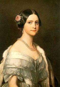 "Franz Xaver Winterhalter--""Portrait of Princess Maria Amelia of Brazil"" Franz Xaver Winterhalter, Female Portrait, Portrait Art, Female Art, Maria Amelia, Painted Ladies, Woman Painting, Beautiful Paintings, Vintage Images"