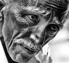 The old man with a broken heart and sad soul.