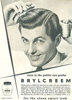 Brylcreem or Margarine? 1950s Mens Hairstyles, Vintage Hairstyles, Vintage Advertisements, Vintage Ads, Vintage Posters, Pomade Hairstyle Men, Barber Poster, 1950s Ads, 1960s