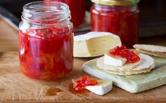 As soon as peppers become plentiful, Mum starts making this favourite relish. It's an absolute treat to have with cold meats and cheese. Relish Recipes, Apple Sauce, Canning Recipes, Honey Recipes, Orange Recipes, Yummy Recipes, Rhubarb Chutney