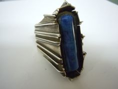Rachel Gera. Sterling and Lapis Ring. Early 1970's.