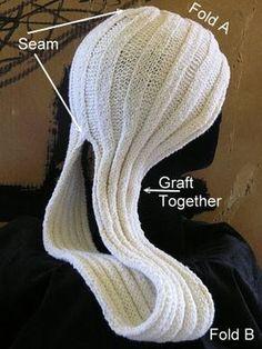 Este turbante é de trico,mas com a ideia da para se fazer em croche