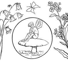 Fairies and Butterfly Coloring Pages | Fairy Coloring Pages :: Image 2