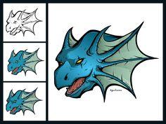 The Dragon and its making process by Agustian Eko Saputro