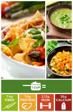 Fiber Tip: Fresh, frozen or pureed- give peas a chance for a little extra fiber and a pop of color!