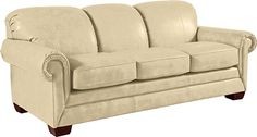 Mackenzie Supreme Comfort™ Queen Sleep Sofa by La-Z-Boy..Cover Type: Leather Cover Color: Ivory (FL941932)