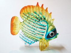 Coastal Style Handicraft MINIATURE HAND BLOWN Art GLASS Fish FIGURINE Collection