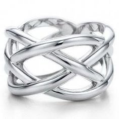 Love this! Tiffany and Co Ring Weave Silver