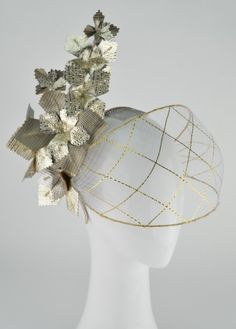 CRINOLINE VEILING   Gain all the skills you need to add crinoline veils to crowns or headpieces as your tutor Rebecca Share details all the steps to ensure your veil sits over the facial features securely. #millinery #hatacademy