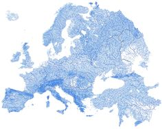 There are 1.35 million watercourses in Europe.
