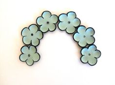 Mint cabochon flowers Leather flowers by HMCreativeSupplies, $5.99