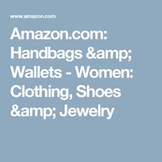 Amazon.com: Handbags & Wallets - Women: Clothing, Shoes & Jewelry