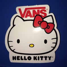Hello Kitty Vans sticker Really cute hello kitty sticker, white with a red bow :) Hello Kitty Other