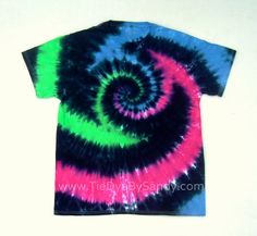 Tie Dye Shirt Large Vortex Spiral in Green Blue by TieDyeBySandy, $17.99