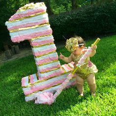 Pink and Gold piñata