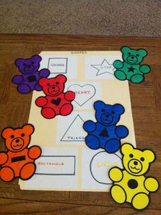 File folder game for preschoolers-- shape matching