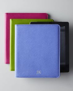 """For a friend who loves to accentuate with color. Get her an Ipad cover that best describes her personality - classic and fun. Personalized """"Saffino"""" Leather iPad Case by Graphic Image at Horchow, $58.00"""