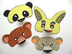 Carnevale: lavoretti per bambini - Mascherine di carta Paper Mask, Inspiration For Kids, St Patricks Day, Pikachu, Costumes, Fun, Crafts, Masks, Google