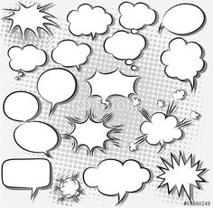 Vector: vector illustration of comic speech bubbles
