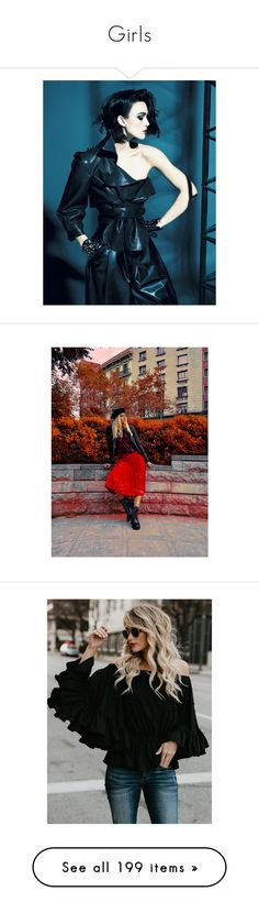 """""""Girls"""" by lilimia ❤ liked on Polyvore featuring backgrounds, celebrities, models, women, people, tops, blouses, loose tops, loose fitting blouses and pearl top"""