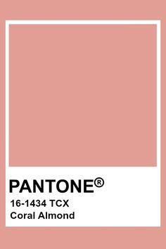 Pantone Coral Almond