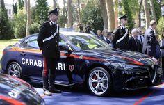 Oggi la nuova Alfa Romeo Giulia, in versione Quadrifoglio da 510 CV, è stata anche svelata nella livrea di auto dei Carabinieri.