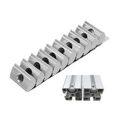 Machifit 10pcs 4040 M6 Shrapnel Nut Block Elastic Nut EU Standard for 4040 Aluminum Profile