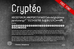 Crytéo free font by Despinoy Fabien #free #font #icon