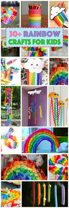 Kids are always in the mood for a rainbow craft, so we've gathered 30 of the Best Rainbow Crafts for Kids that we could find for your rainy day inspiration!