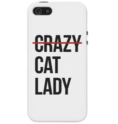 Crazy Cat Lady Protective iPhone 5/5S Phone Case, Cat Phone Case, Cat Lover iPhone Case by HouseOfCat on Etsy