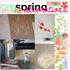"""""""DIY spring decorations ♥"""" by tips-by-annie on Polyvore"""
