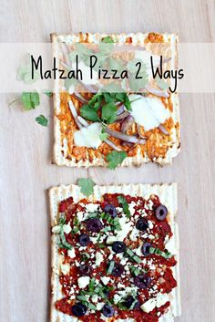 Matzah Pizza (Passover) There's no wrong way to matzah pizza!