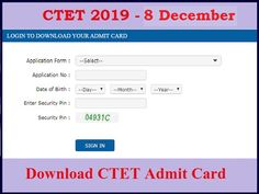 The Central Board of Secondary Education, which conducts the CTET examination, released CTET Admit Card Board Of Secondary Education, Application Form, Cards, Maps, Playing Cards