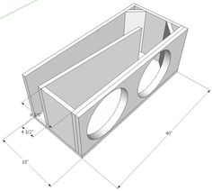 With this dual 15″ Sundown Audio SA 15 enclosure, I've gone for a compact (in 15″ subwoofer terms) 2:1 ratio single fold tapered t-line, just to keep things simple. I'm not …