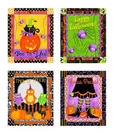 Hocus Pocus Halloween Panel Multi from Designed by Deb Grogan for RJR Fabrics, this cotton print fabric panel measures x with four x blocks. It is perfect for quilting and Halloween home decor accents. Halloween Runner, Halloween Fabric, Halloween Home Decor, Halloween Projects, Halloween House, Scary Halloween, Etsy Fabric, Nursery Fabric, Halloween Greetings