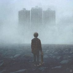 """""""The Way We Fall"""": Eerie Illustrations Of An Apocalyptical World By Yuri Shwedoff Yuri Shwedoff, Post Apocalyptic Series, Digital Art Gallery, Digital Collage, Academic Art, Surrealism Photography, Matte Painting, Fan Art, Illustrations"""