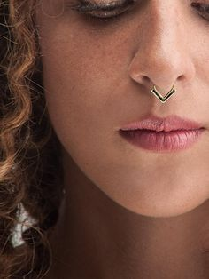 Statement Septum Ring - Gold septum with black enamel. Looking for edgy statement septum jewelry? Shop here! Statement Septum Ring - Gold septum with black enamel. Looking for edgy statement septum jewelry? Shop here! Septum Piercings, Septum Ring, Septum Jewelry, Peircings, Face Jewellery, Piercing Ring, Silver Jewellery, Statement Jewelry, Boho Jewelry