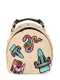 MSGM - EMBROIDERED PATCHES BACKPACK
