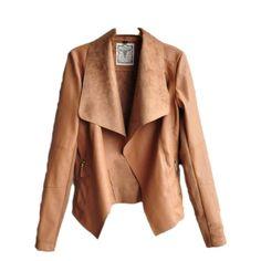 Printemps automne 2015 nouveau mode européenne et américaine femmes Slim  mince manteau court Pu veste en · Veste En Cuir FemmeManteau ... f2ea73073366