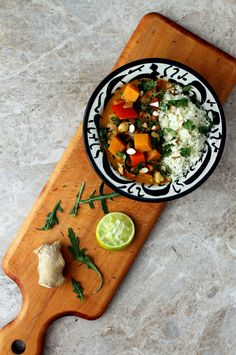 African Almond Stew with Ginger Cauliflower Rice