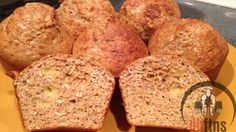 PROTEIN Banana Oat Muffins Recipe (High Fiber/Protein!)