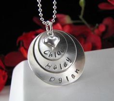 Sterling Silver Hand Stamped MOM Grandmother by StampedByTheHeart, $54.00