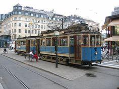Stockholm old Djurgarden Tram