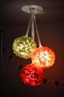 light up fabric poms! Night light for Addie's room!!!