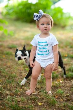 I am Not a Squeaky Toy  Funny Baby Onesie or by ShopTheIttyBitty, $16.00