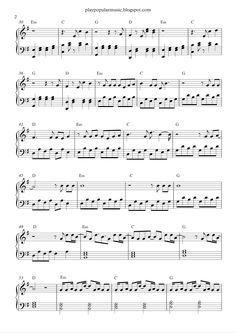 free sheet music pdf popular songs