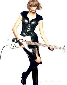 Karlie Kloss - electric guitar Goddess Tasha Only High Heels